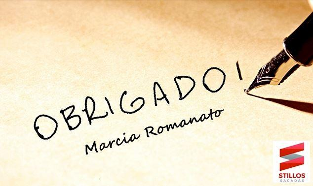 Obrigado Marcia Romanato!