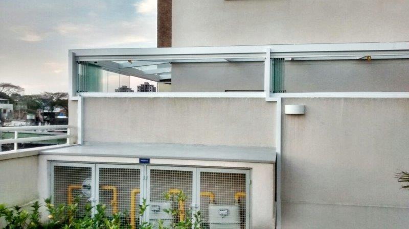 Cobertura de vidro para varanda